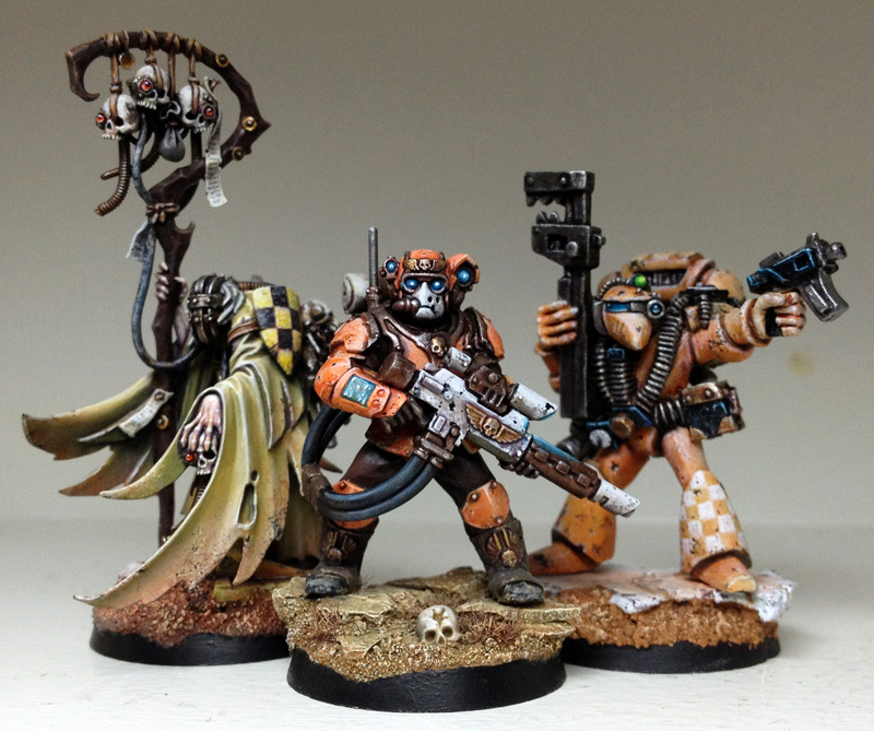 A Scion And Old Techmarine Not Much But They Were Fun To Paint Of Course Want Hang Out With The Skull Collector Painted In Early 2012